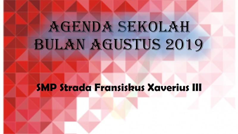 Agenda Sekolah Bulan Agustus 2019