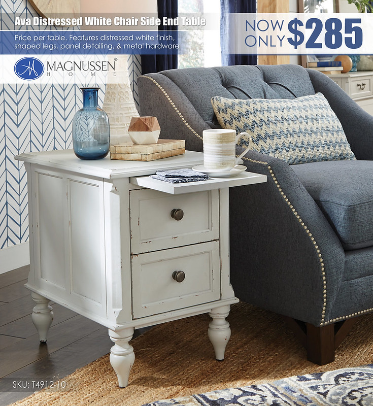 Ava White Chair Side End Table_T4912_10_VIN_DET