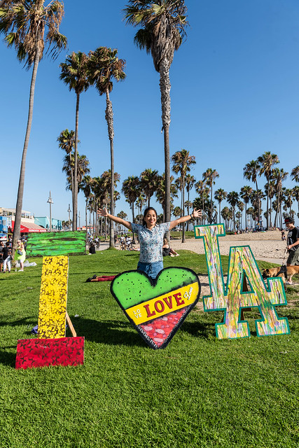Me with the I Love LA Handpainted Signs by Hammer at Venice Beach, CA