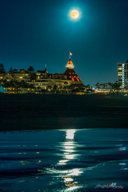 Moon over Coronado
