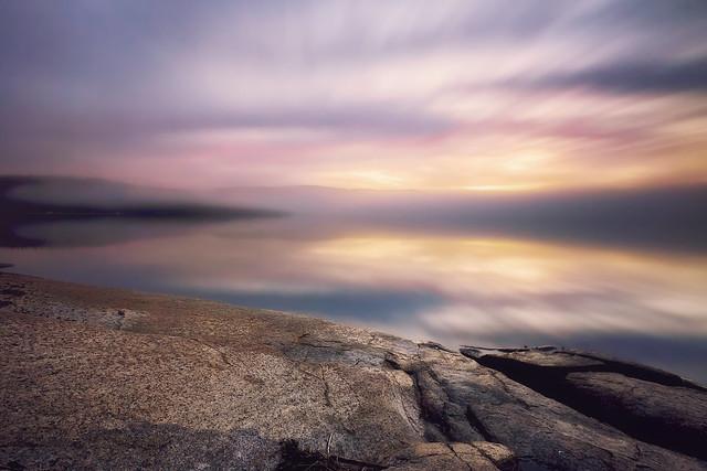 Matin d'automne sur la Baie Des Ha! Ha!