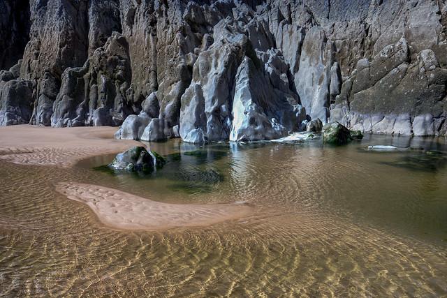 Three Cliffs Bay beach / South of Wales / UK 2019