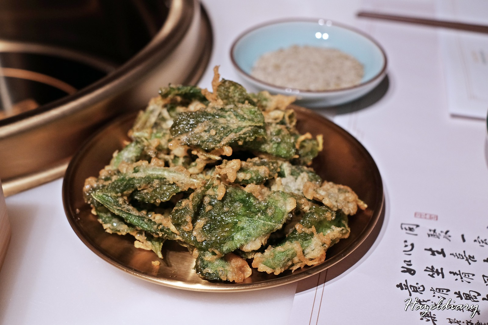 Tong Xin Ru Yi Traditional Hotpot-Fried Mint Leaf