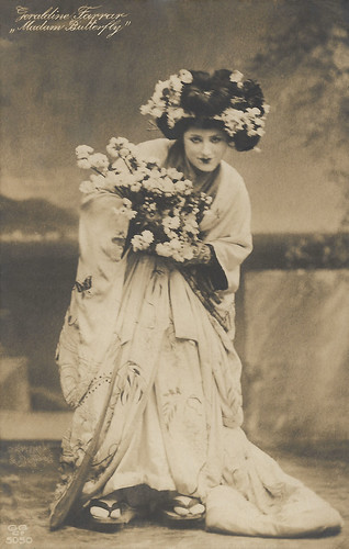 Geraldine Farrar in Madam Butterfly