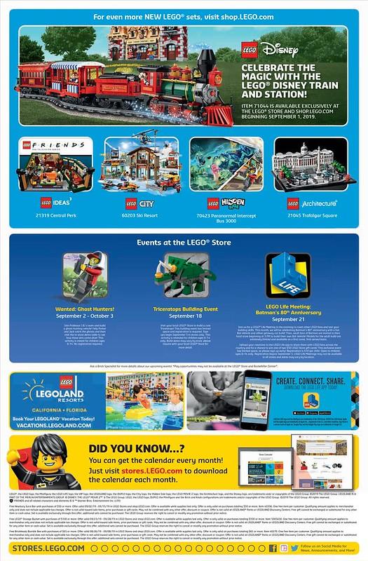 LEGO US Store Calendar 2019