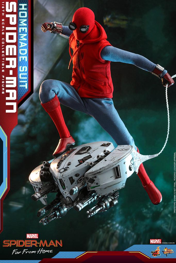 附屬施以舊化戰損的無人機!! Hot Toys - MMS552 -《蜘蛛人:離家日》蜘蛛人 (自製戰衣版) Spider-Man (Homemade Suit Version) 1/6 比例人偶作品