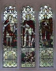 St Andrew, St George, Richard the Lionheart (Christopher Webb? 1920s)