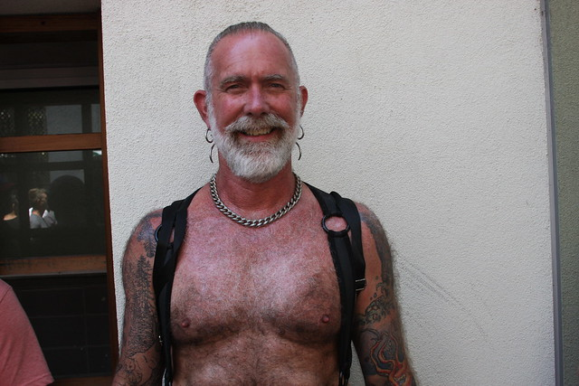 SEXY HAIRY LEATHER DADDY ! ~ DORE ALLEY FAIR 2019 ! ( safe photo )