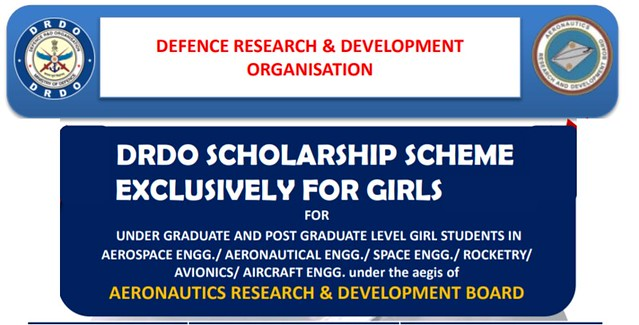 drdo scholarship for girls