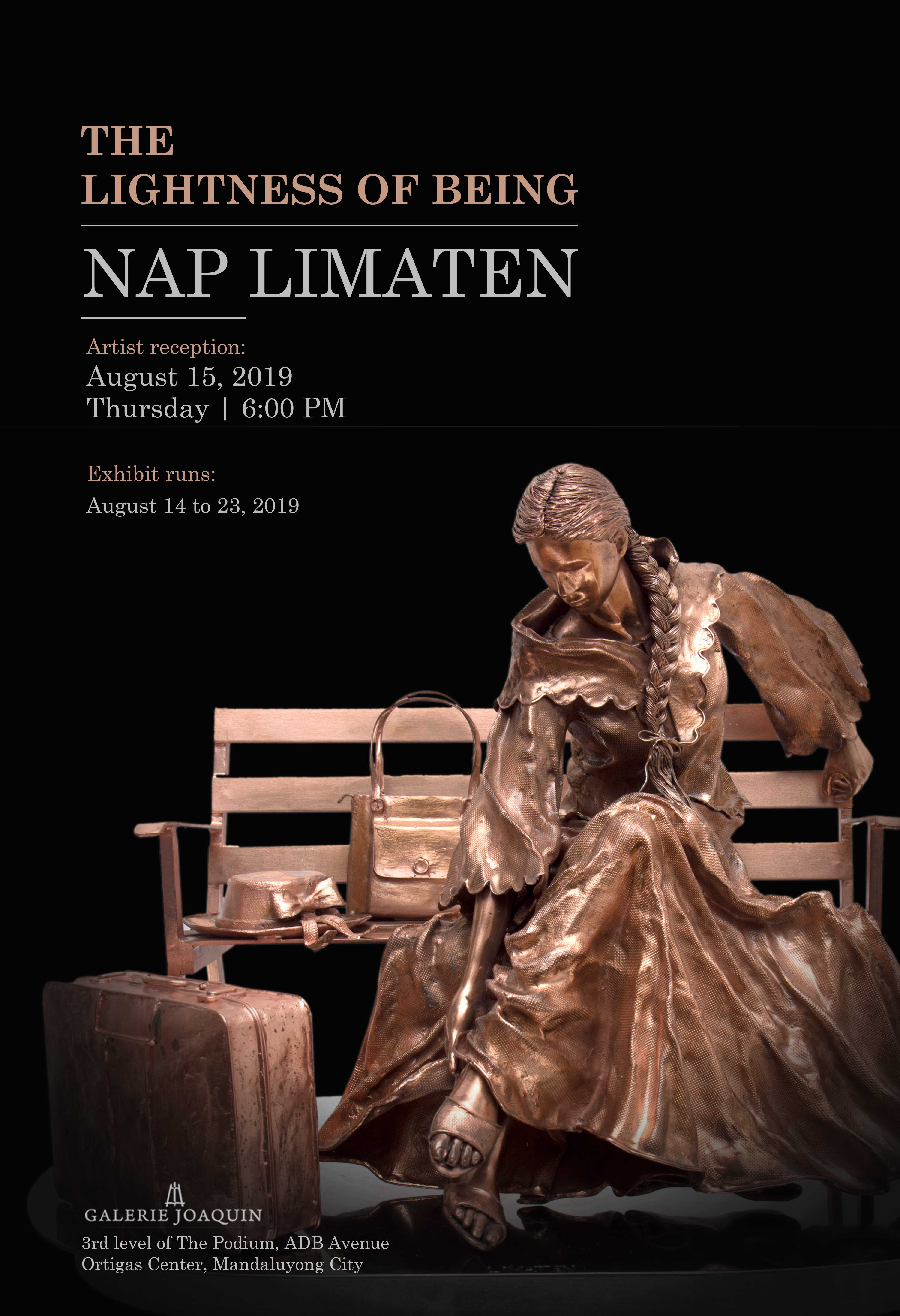 """TWO-MAN EXHIBIT: """"THE LIGHTNESS OF BEING"""" BY NAP LIMATEN AND """"THE ALLURE OF MOTION"""" BY KATRINA CUENCA"""