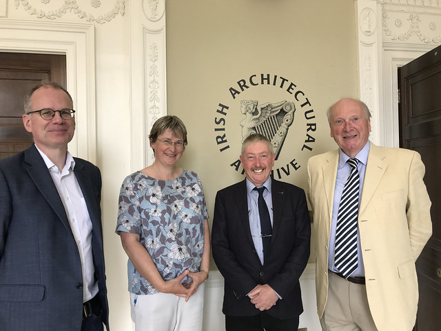 Colum O'Riordan (IAA), Dr Susan Hood (RCB Library), Dr Michael O'Neill (guest speaker on the Church of Ireland drawing collections), and Dr Michael Webb.