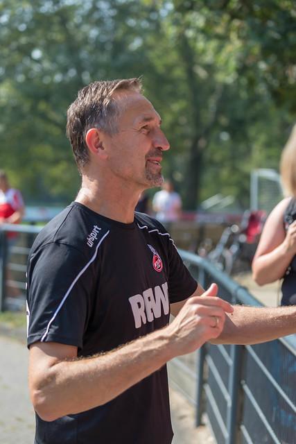 Cologne football trainer Achim Beierlorzer meets football fans after team training at Geißbockheim, Germany