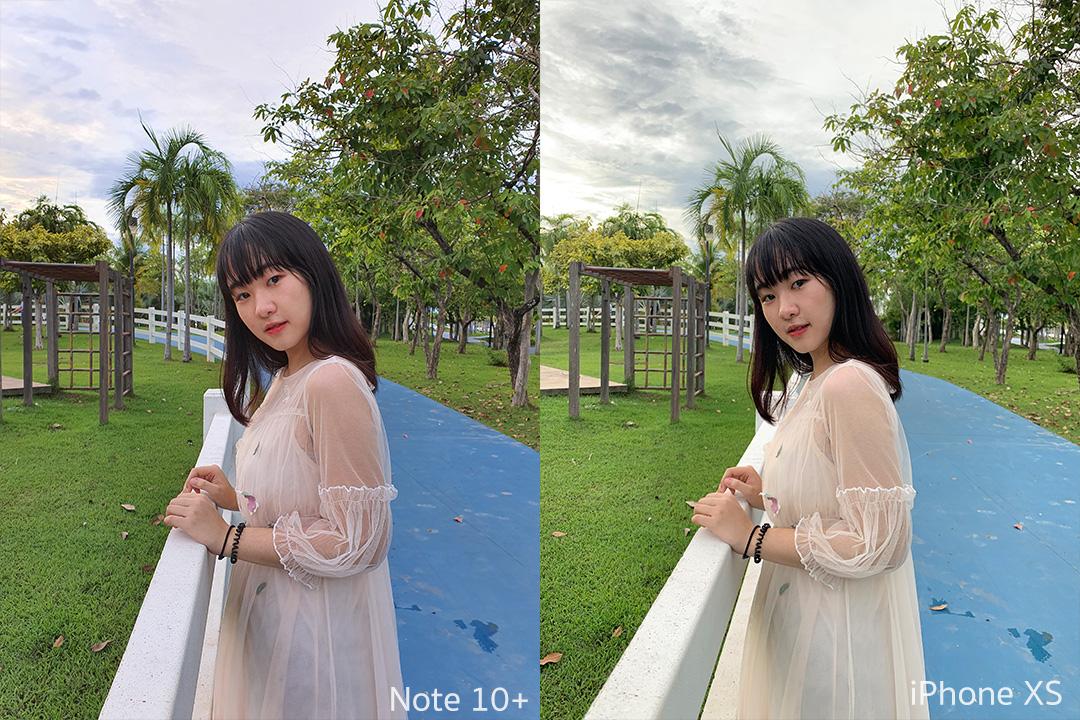 เทียบภาพถ่ายพอร์ทเทรต Note 10+ กับ iPhone XS