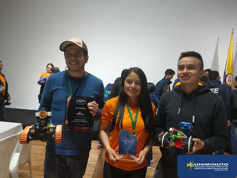 UNIMINUTO se lleva el tercer puesto en la competencia internacional Mercury Robotics Challenge