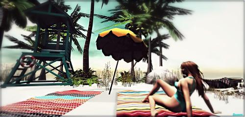 ► ﹌Sunny summer beach.﹌ ◄