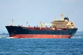 Tanker Spirit passing Cowes
