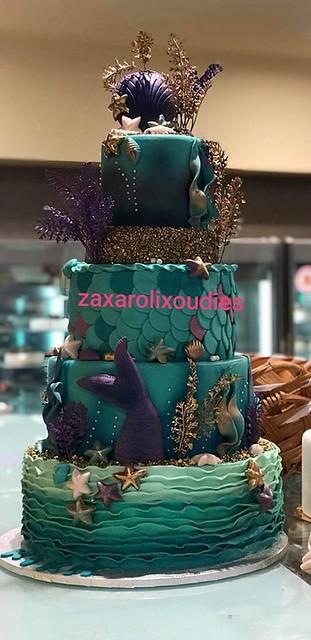 Mermaid Cake by Alexandra Kostala
