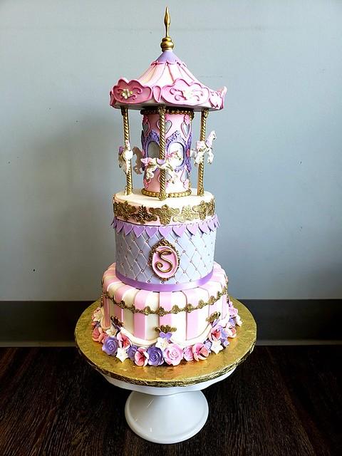 Carousel Birthday Cake by Crystal Hanna