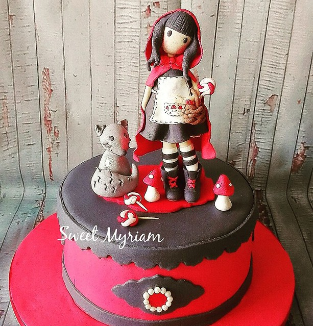 Santoro Red Riding Hood by Athanasiou Myriam of Sweet Myriam