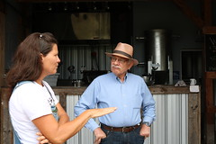 Rep. Simanski toured Maple View Farm and Brewery in Granby with Kate Bogli