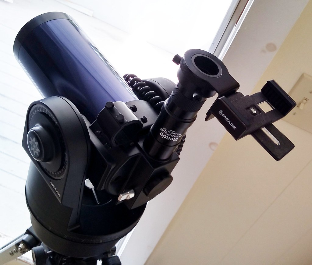 Meade telescope to phone bracket