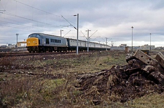 45128, Spring Vale Sidings, December 1983