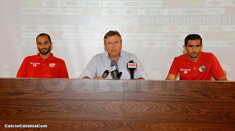 Pietro Lo Monaco con Pinto e Catania oggi a Torre del Grifo