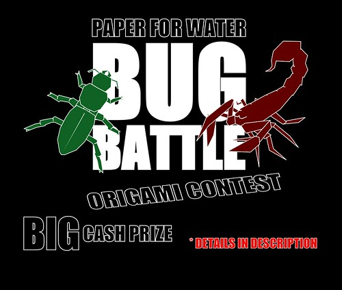 BUG BATTLE - Paper for Water origami contest | by Tankoda