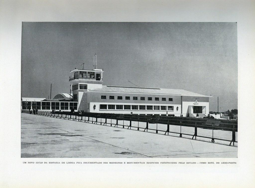 Aero-porto, Lisboa (Mário de Novaes, in «Panorama», n.ºs 32-33, 1947)