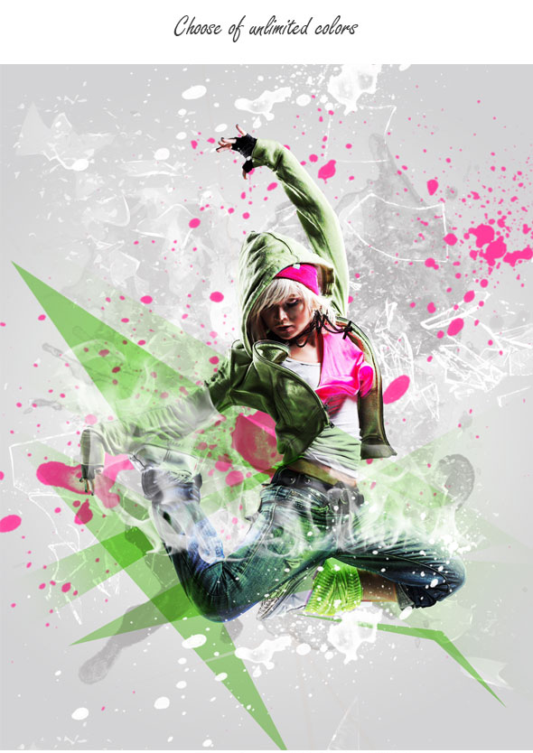 Splatter Photoshop Action