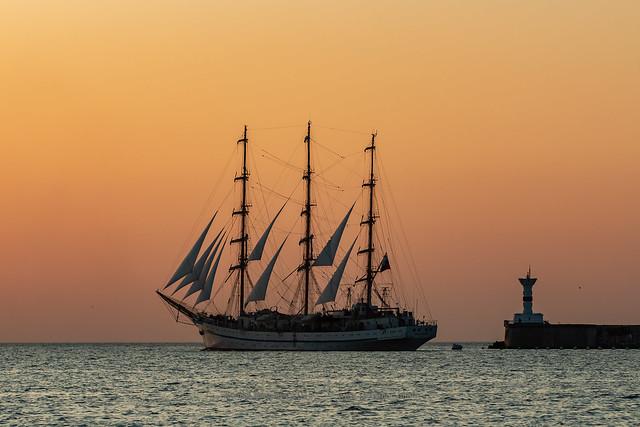 Khersones tall ship. Sevastopol, Russia.