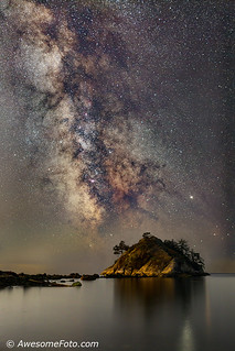 Milky Way with islet