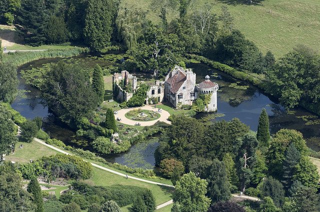 Scotney Castle aerial image