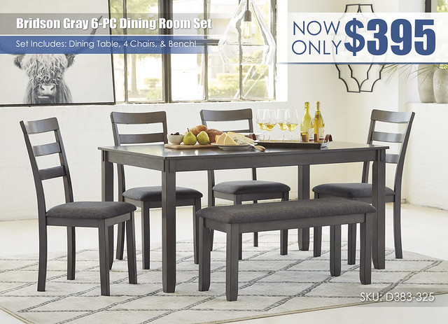 Bridson 6PC Dining Room Set_D383-325