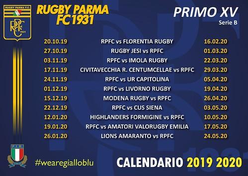 Calendario 19/20 primo XV