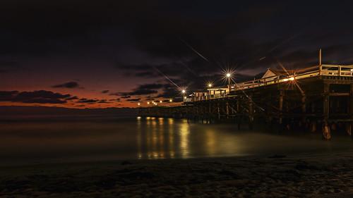 sunset pier crystalpier sky sand ocean pacificocean sandiego lights america california 2017
