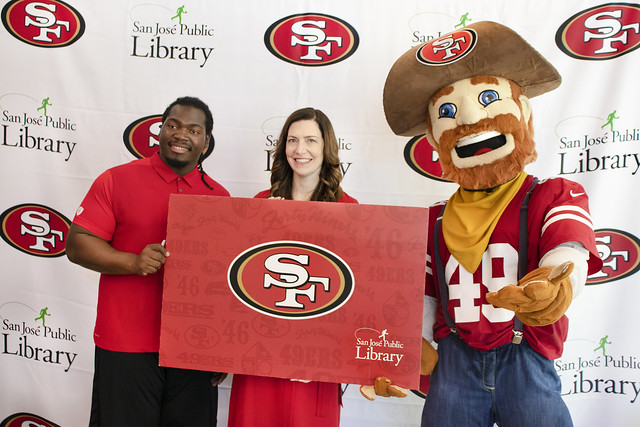 2019/08 SF 49ers Library Card Launch & Storytime