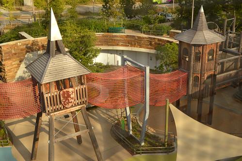 tulsa ok oklahoma thegatheringplace playground park ropes castle adventureplayground