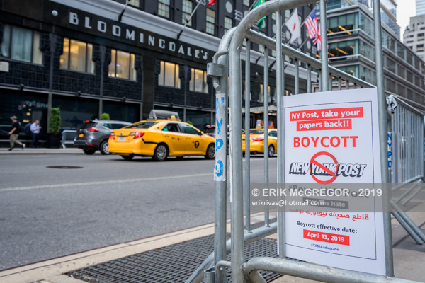 Activists demand Bloomingdales to Boycott NY Post