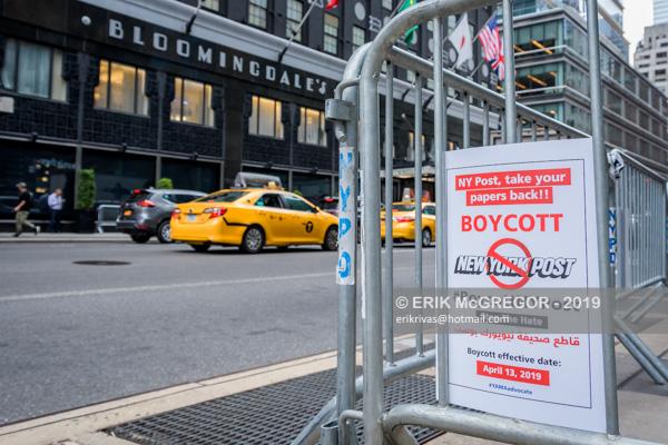 Activists demand Bloomingdales to Boycott NY Post