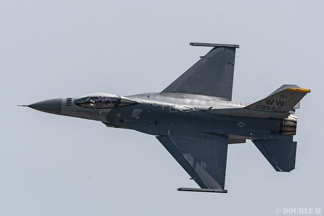 PACAF F-16 Demo at MatsushimaAB Airshow 2019 Rehearsal (5)