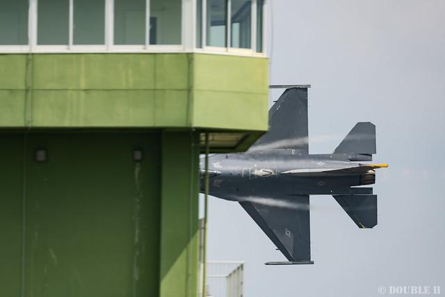 PACAF F-16 Demo at MatsushimaAB Airshow 2019 Rehearsal (6)