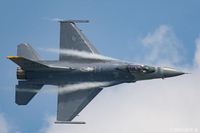 PACAF F-16 Demo at MatsushimaAB Airshow 2019 Rehearsal (23)