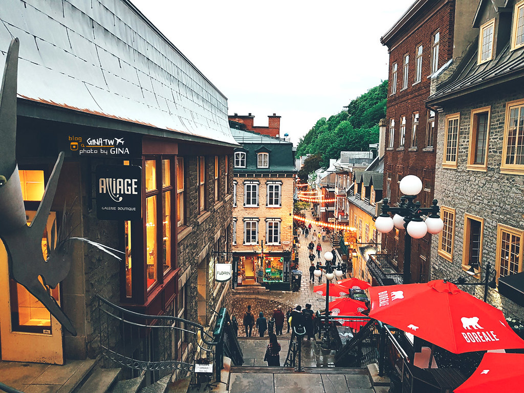 加拿大自由行》法式風情 魁北克市(Quebec City)韓劇鬼怪景點 歷史城區GINA2天2夜行程建議 聯合國教科文組織世界文化遺產 @Gina Lin