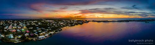 harringtonsound drone panorama mavicpro2 bermuda sunset
