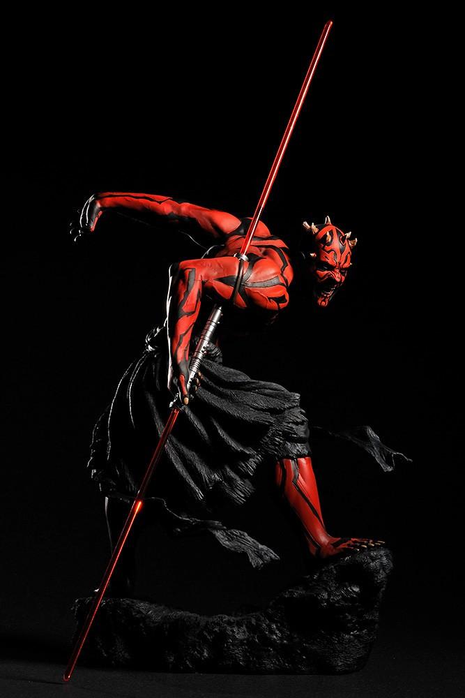 極具魄力的動態呈現,強悍的西斯武士再臨! 壽屋 ARTFX 系列《星際大戰》達斯·魔 發光版 ダース・モール ライトアップ版 1/7 比例PVC塗裝完成品【再生產】