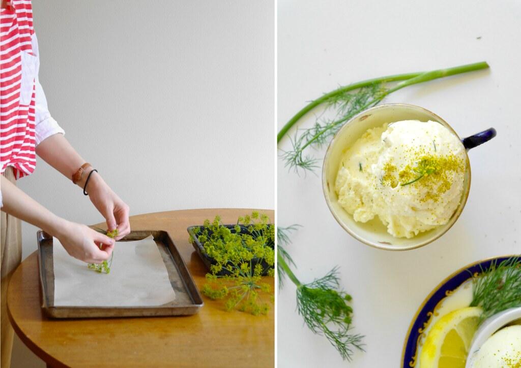lemon cardamom & dill pollen ice cream