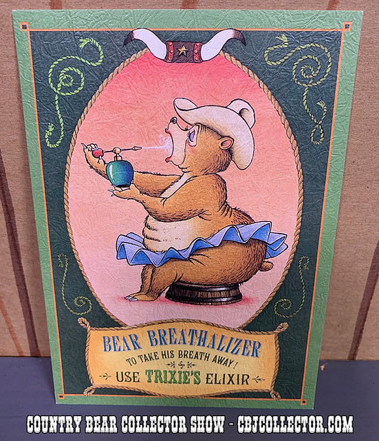 Vintage Tokyo Disneyland Trixie Old-Time Ad Postcard - Country Bear Collector Show #216