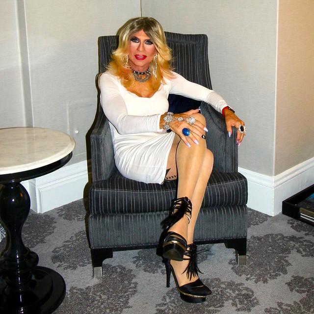 Cortney - Blonde in White