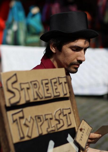 The street typist